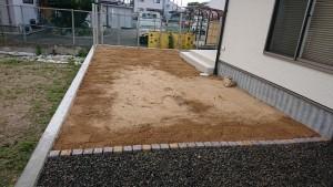 人工芝下地